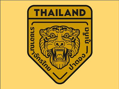Tiger badge logo badge tiger animal 2d vector illustration