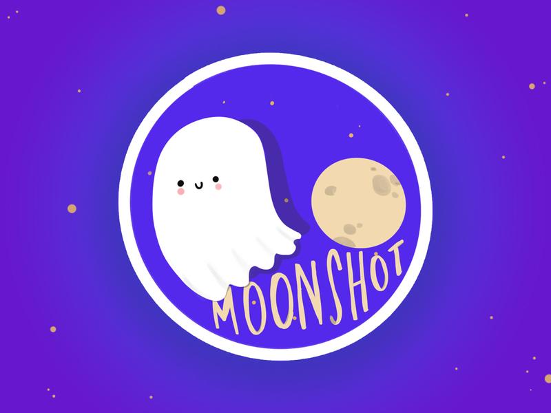 Moonshot - The sticker digital illustration swag sticker illustration