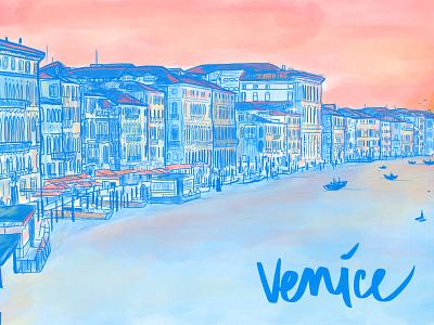 Venice - Sunset procreate venice illustration digital illustration