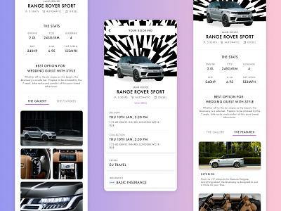 THE OUT - Premium Car Rental mobile app automotive car rental ui design product design