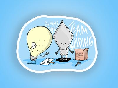 Team Building - The sticker procreate sticker swag digital illustration illustration