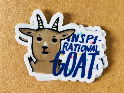 Inspirational Goat goat swag design illustration sticker