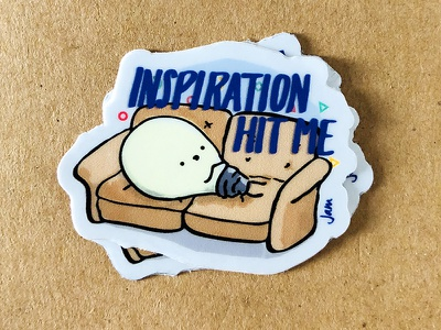 Inspiration Hit Me swag drawing design sticker illustration