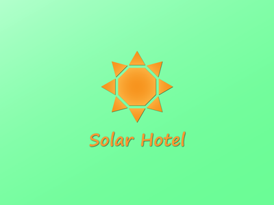 Solar Hotel orange logo hotel solar sun illustration animation adobe illustrator design vector logo