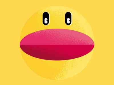 Pac-Man and ghosts arcade videogame ghosts pac-man characters flat colors shapes illustrator illustration