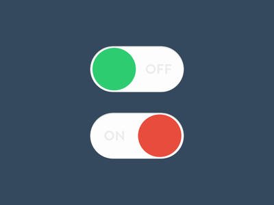 #Day 015 On off switch off on ux ui switch interface flat dailyui daily