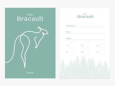 Les Bracaults minimalists simple offline turqouise print illustration