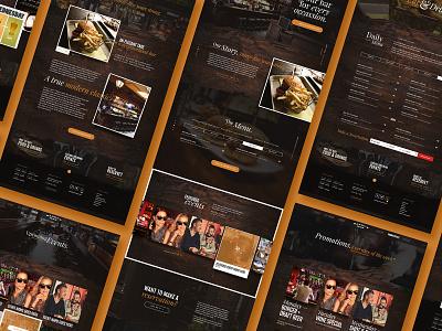 Harrys Bar Website menu bar harrys restaurant responsive mobile web design website web
