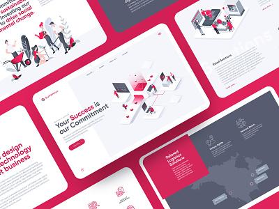 Superior Communications Website svg illustrations communications superior web design website web ui