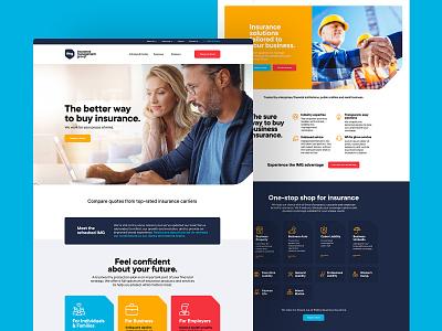 Insurance Management Group Website img insurance web design website web ui