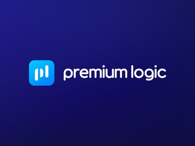 Premium Logic Logo Design logotype vector mark premium logic logic premium saas gradient logo branding