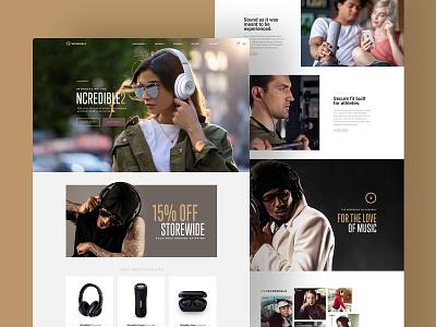 NCredible Audio Ecommerce Website ecommerce responsive mobile nick cannon headphones audio ncredible web design web website ui