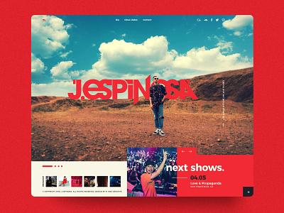 DJ Espinosa Website dj website dj espinosa web design website web ui