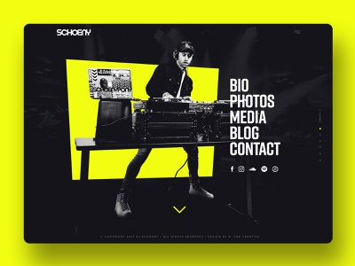 DJ Schoeny Website schoeny dj ui web design website web
