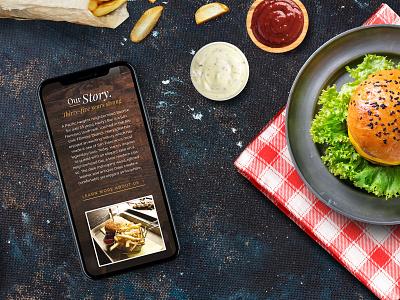 Harry's Bar Website Design diner texture wood burger restaurant responsive web design design website