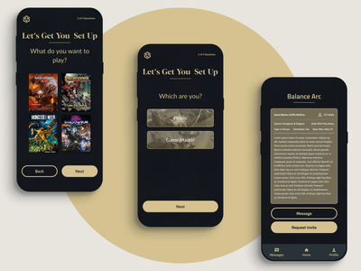 Party Starter side project starter party dnd dungeons  dragons dd app
