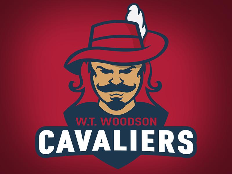 W.T. Woodson Cavaliers football school branding brand logo sports