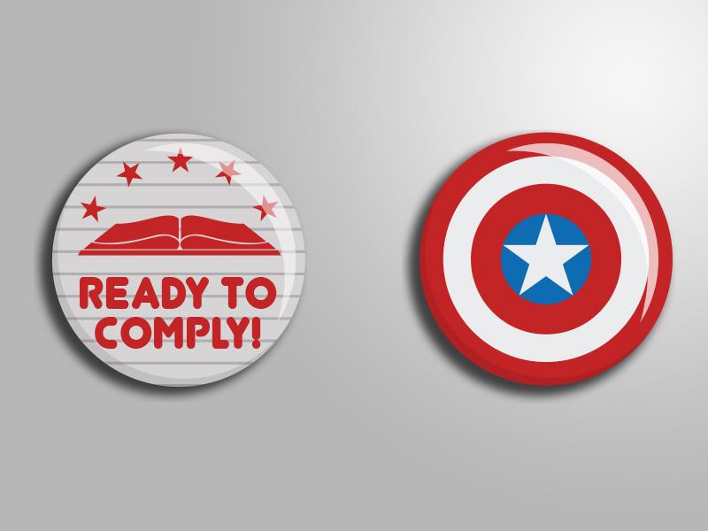 Civil War Pins civil war winter soldier captain america pins buttons comics marvel