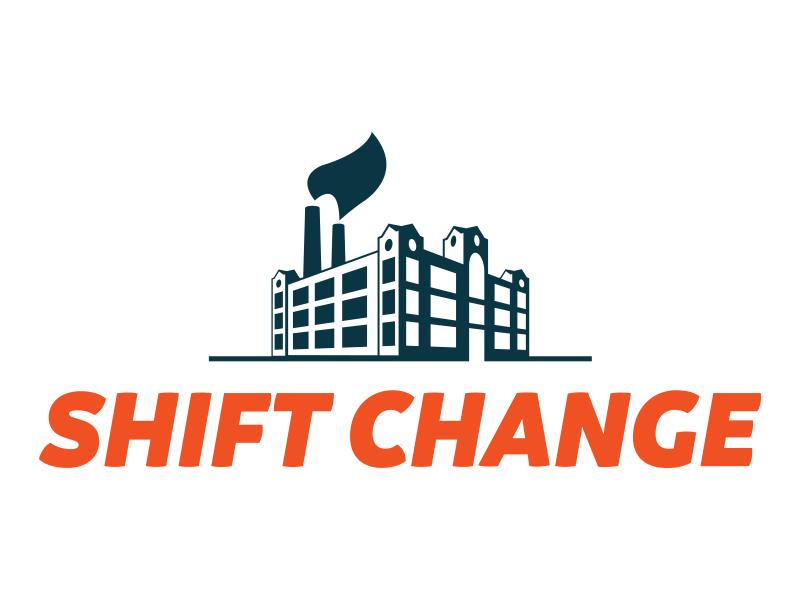 Shift change shift building logo factory