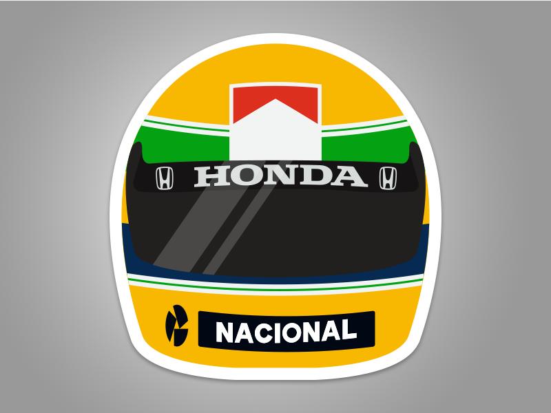 Senna Sticker brazil race helmet racing senna