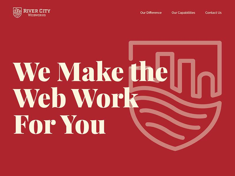 RCWW Site Intro red simple website