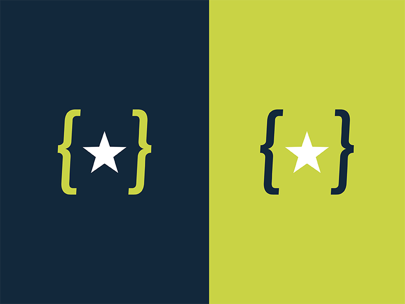 Mark from the cutting room floor conference js tech navy green logo icon