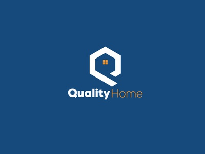 Q Home Logo (Quality Home) vector design graphic design logo icon homelogo realstatelogo illustration brand design branding