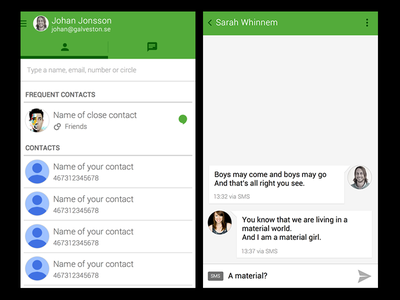 Android Hangouts - Sketch template sketchapp sketch android hangouts bohemian free