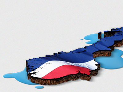 Norway cut out map norway soil water 3d country