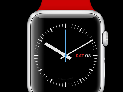 Digital watch date and time concept animation after affects time date watch ui apple watch