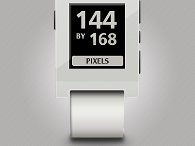 The white Pebble E-paper Watch pebble e-paper watch
