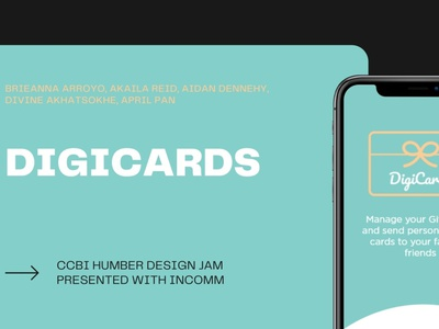 Digicards - A New User Experience for Gift Cards gift cards gift card design jam college humber ccbi incomm fintech app fintech uxui ux