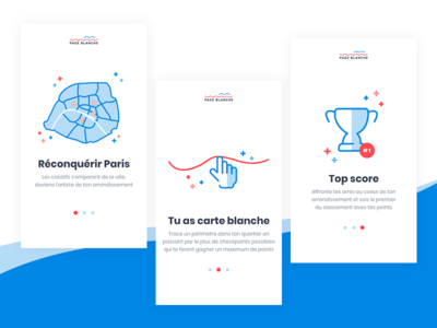 Page Blanche - Onboarding