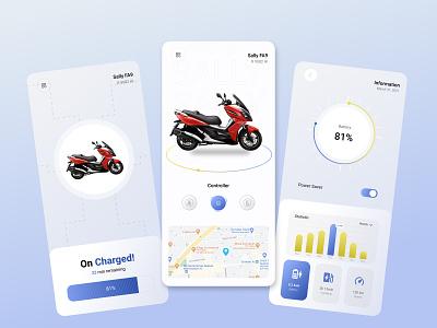 electromoto app ui design