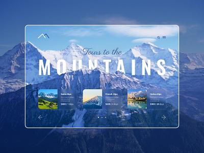 Mountains lending web ui design