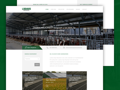 Loohuis Agro Neutraal interface homepage website webdesign ux ui