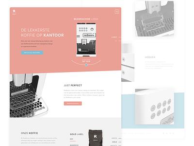 Redbeans  sketch interface product design slowroast machine coffee homepage website webdesign ux ui