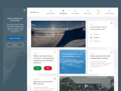 Roc van Twente - Platform interface sketch website clean ux ui webdesign
