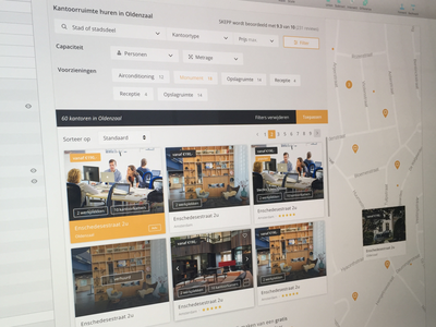 Redesign Skepp (WIP) interface spaces platform webdesign ux ui offices