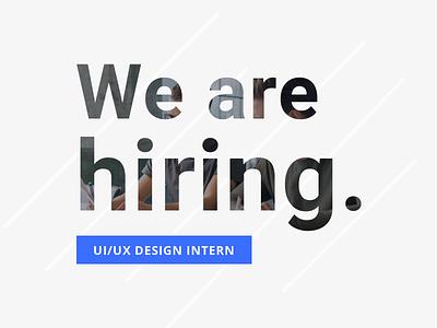 We are hiring a design intern! pixel hiring fun webdesign ui ux intern design