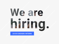 We are hiring a design intern!