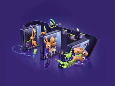 NVIDIA STUDIO Challenge character design challenge playoff dribbble design nvidia mascot