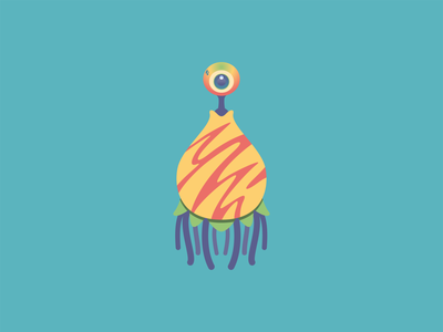 Cute Monster I adobe characterdesign cute adobeillustrator monster digitalart illustrator vector illustration