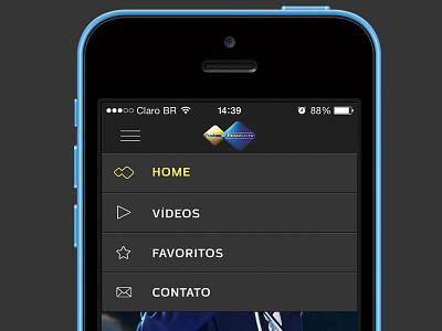 App Eventos Tv app iphone mockup tv mobile design menu
