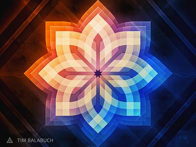 Lotus Light Poster - Freebie effects poster art flower vector freebie press lights print free fire ice