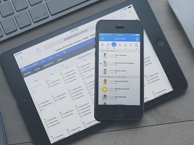 Pega Plantão App & Web mobile mockup schedule date ios app health