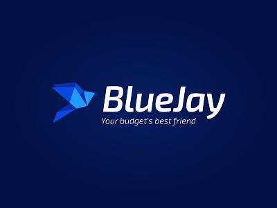 BlueJay App Logo flat bird icon brand logotype logo