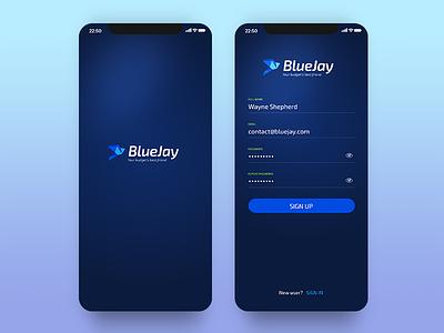 Bluejay - Register register splashscreen login design ios iphone app