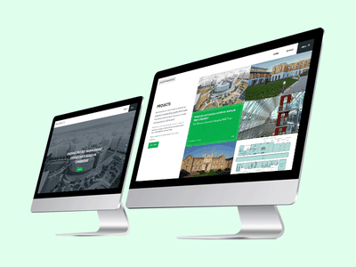 UI: Northmores website design brand large format full screen brand design branding consultancy green website web design ux ui