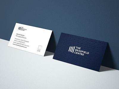 Branding: The Bradfield Centre logo branding brand spot uv printed business cards design print